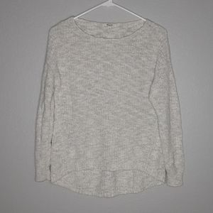 Madewell Gray Marled Eastbank Style Sweater